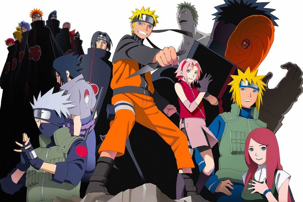 naruto shippuden anime main characters poster products pinterest