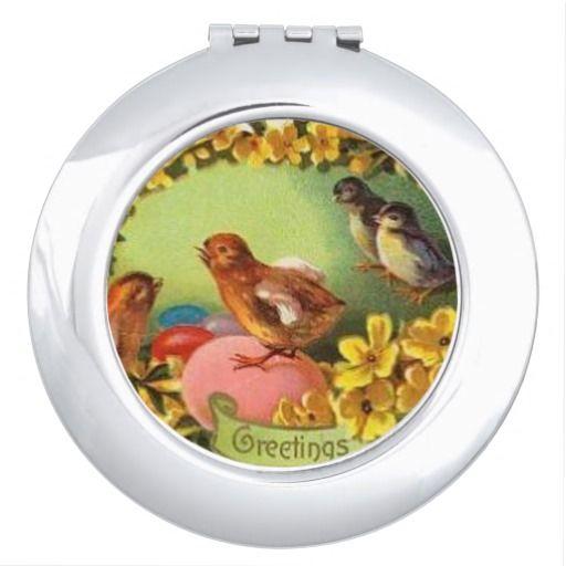 Vintage easter bird round compact mirror easter giftshousehold vintage easter bird round compact mirror negle Choice Image