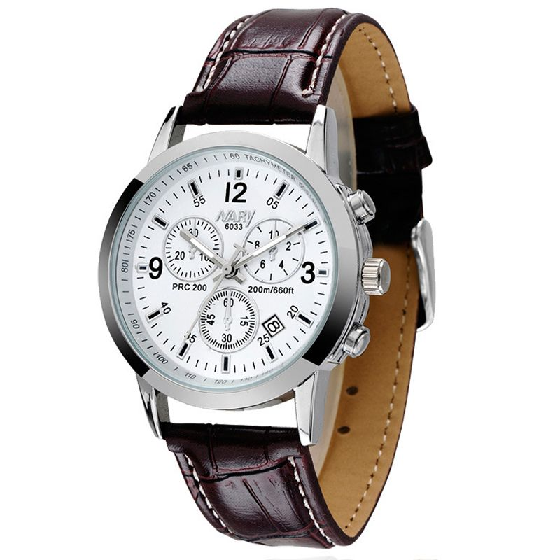 leather luminous for men products megir hour wristwatch watches male fashion calendar watch man hot brand buycoolprice casual chronograph new sport