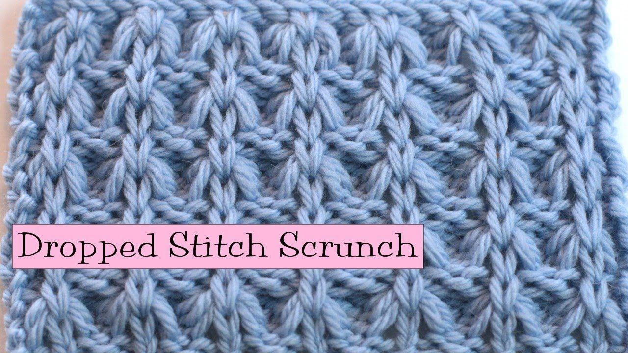 Fancy Stitch Combo - Dropped Stitch Scrunch | CROCHET & KNIT ...