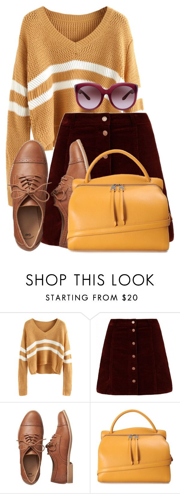 """Untitled #1734"" by cheesinjuliet ❤ liked on Polyvore featuring Gap, Jil Sander and Bottega Veneta"