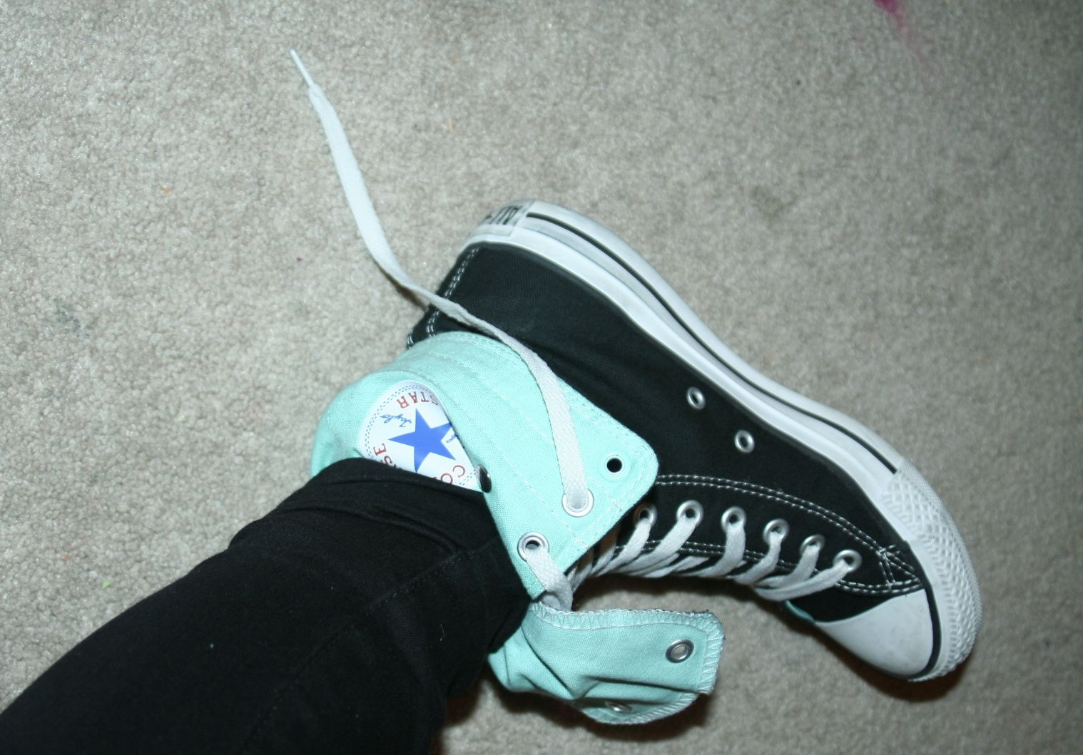 989b3c4dceec converse folded down untied and upside down high tops unlaced ...