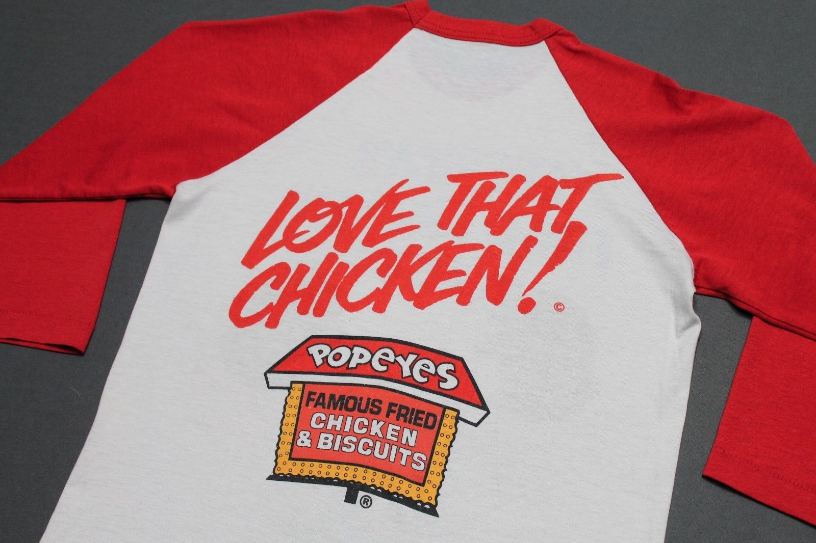 Fried Chicken T-Shirt By The Mountain 100/% Cotton Big Face Tee Shirt