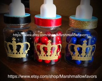 12 Small 3.5 Royal Blue Baby Shower Favors Little