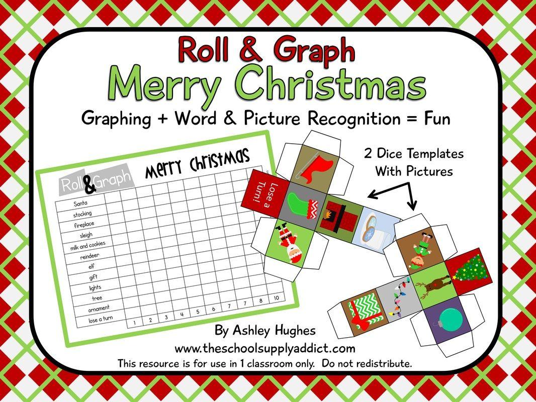 Free Roll Amp Graph Merry Christmas Version Prek 3 Efl