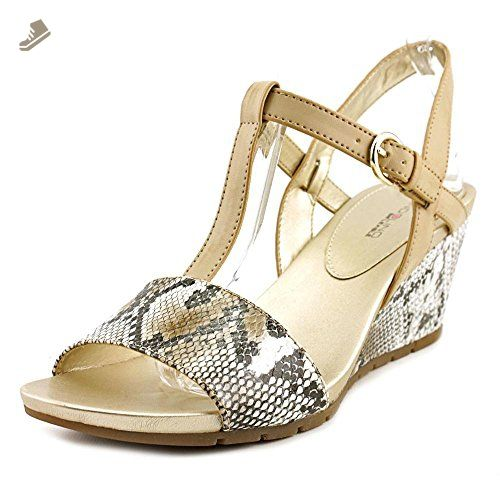 Bandolino Gasha Womens Wedge Sandals Natural/Gray Multi/Lt Natural 5.5 -  Bandolino pumps