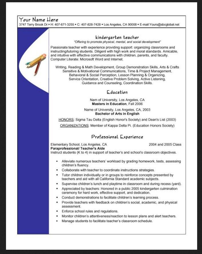 Bachelor of arts in english resume