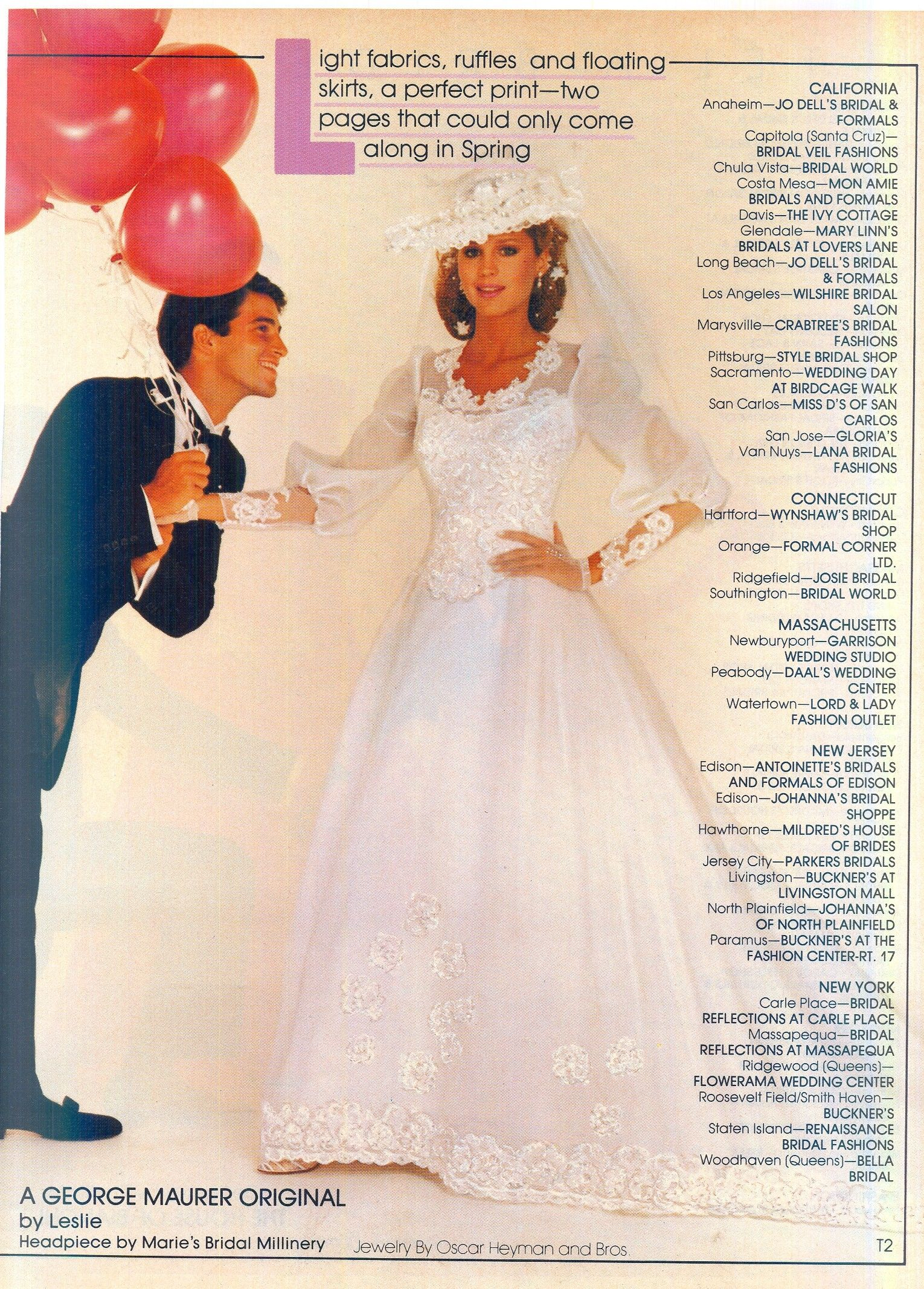 Modern Bride December 1982 January 1983 Bride Dress Vintage Wedding Dresses Vintage 1980s Wedding Dress