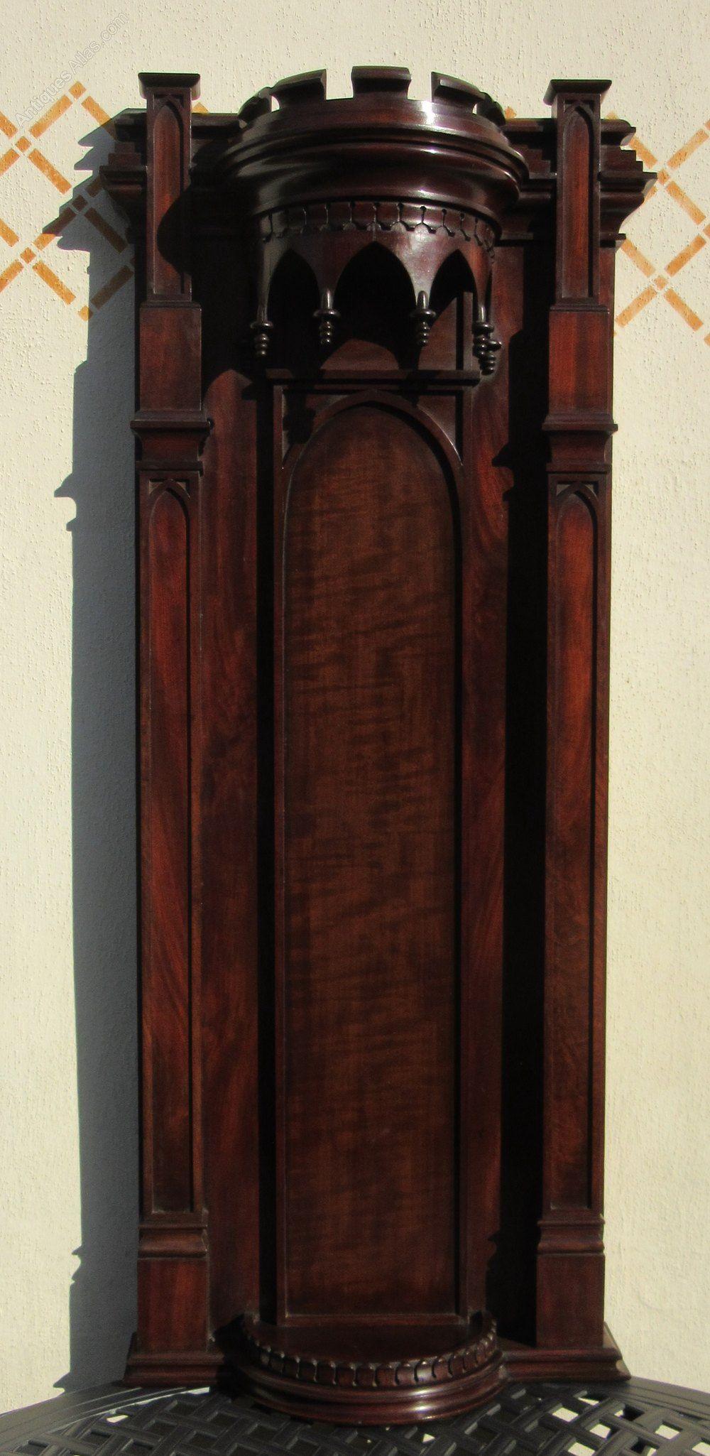 fine gothic mahogany hanging wall bracket c1840 antiques on wall brackets id=97709