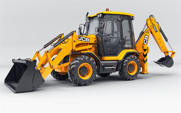 Download Wallpapers Jcb 3cx Compact 4k Backhoe Loader Jcb