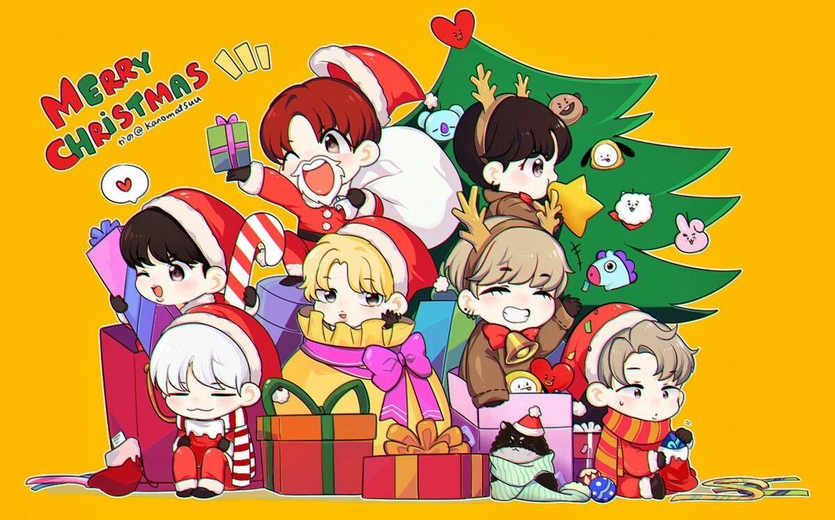 Merry Christmas Bts Christmas Bts Chibi Chibi