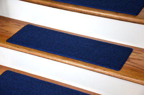 Best Dean Carpet Stair Treads 23 X 8 Navy Blue Set Of 13 400 x 300