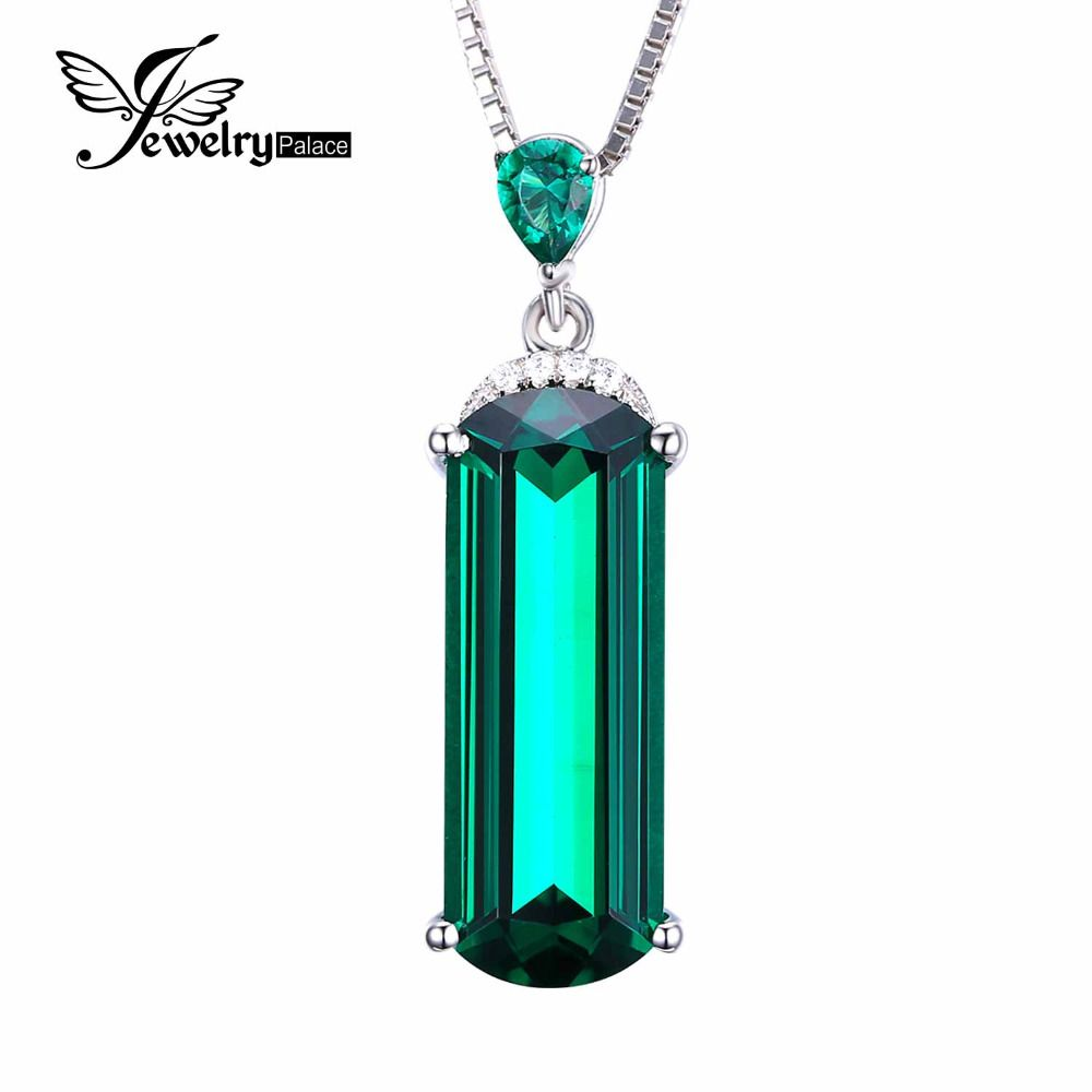 Jewelrypalace fancy cut ct dibuat hijau nano rusia emerald padat