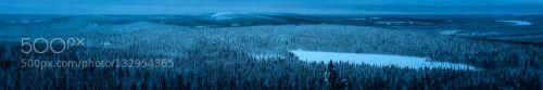 Pallas-Yllästunturi National Park by johnsson  Pallas-Yllästunturi National Park WBPA blue cold finland forest landscapes nature nature photograph