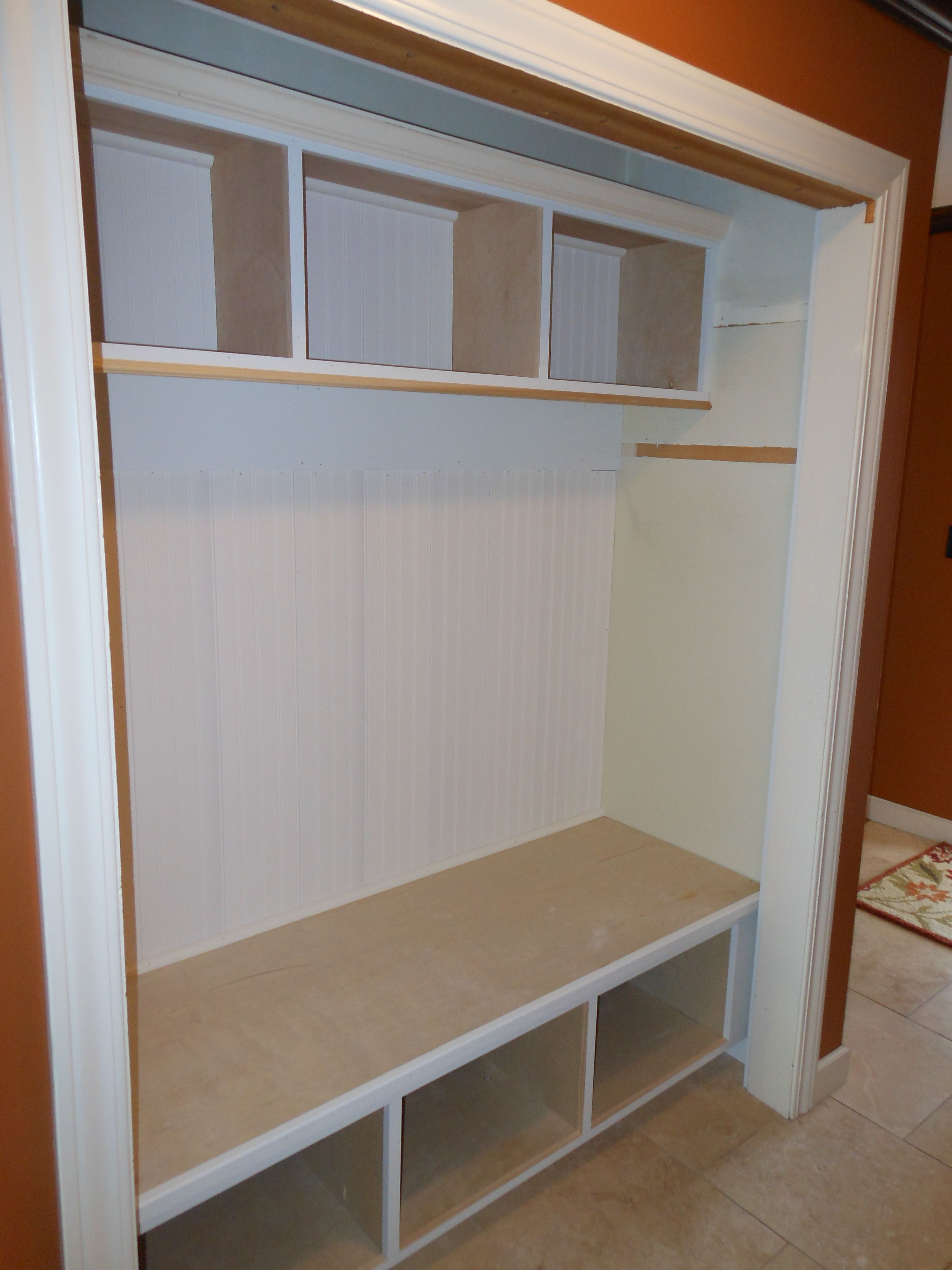 Hallway Closet Conversion: Again, Interesting Idea, But Removes A Lot Of  Hanging Storage.