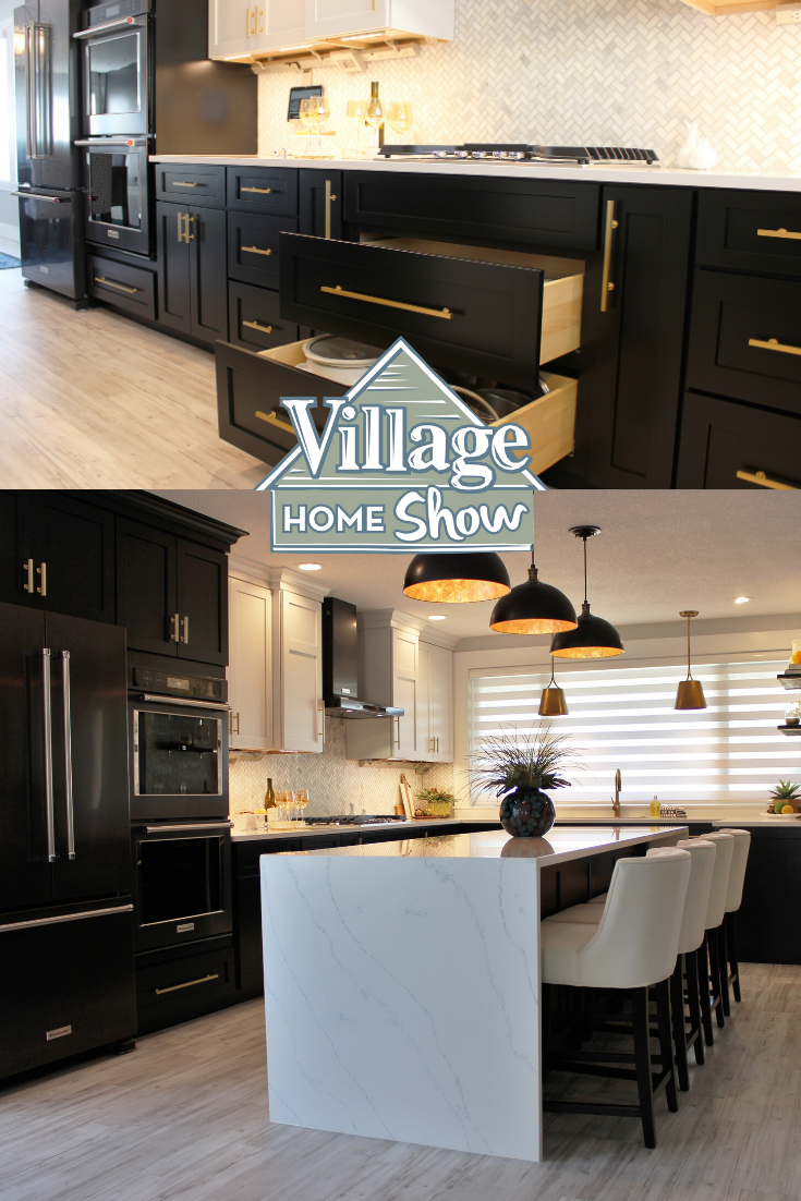 Black And White Two Tone Kitchen Remodel In Quad Cities In 2020 Kitchen Remodel Kitchen Trends Two Tone Kitchen