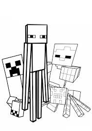 Minecraft Mobs Com Imagens Minecraft Para Colorir Desenhos