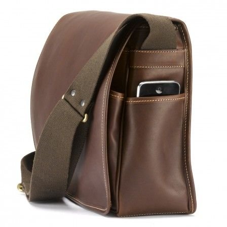 Messenger Bag in Sundance Floodlight Leather- Large