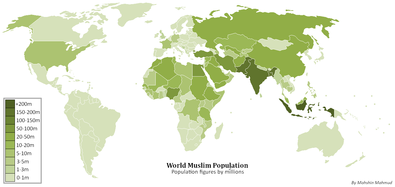 Map of current muslim domination