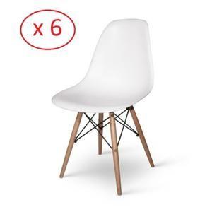 Lot De 6 Chaises Design Dsw Blanches Blanc Chaise Design Chaise