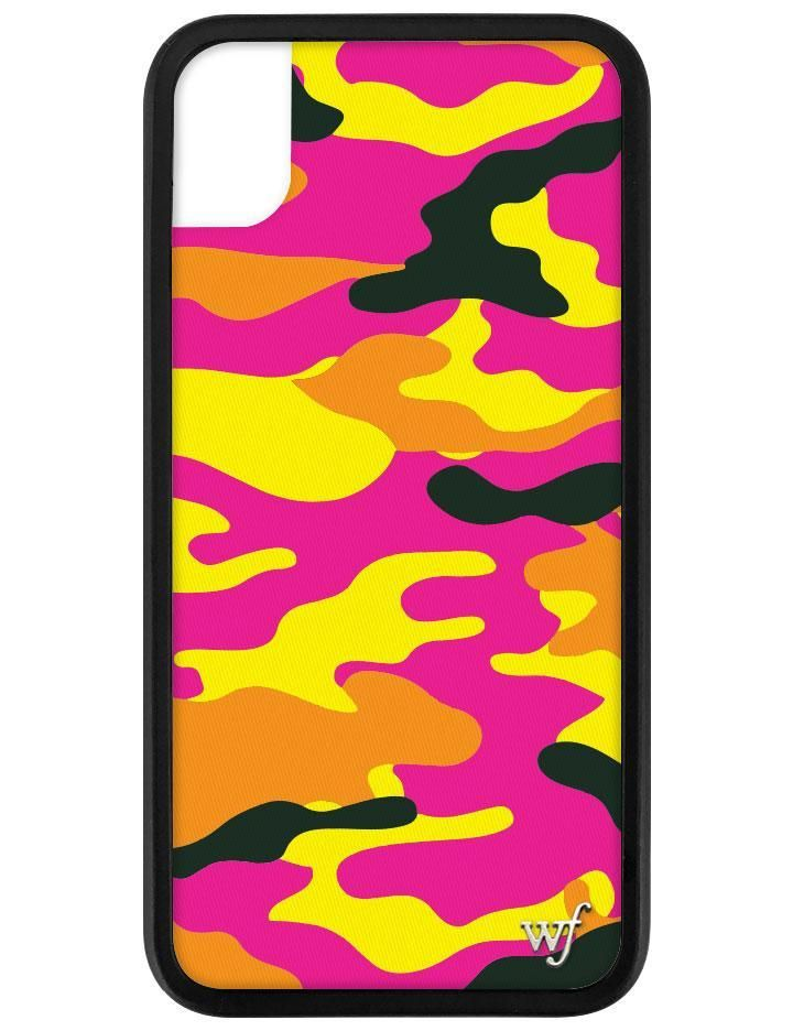 Neon camo iphone xr case in 2020 wildflower phone cases