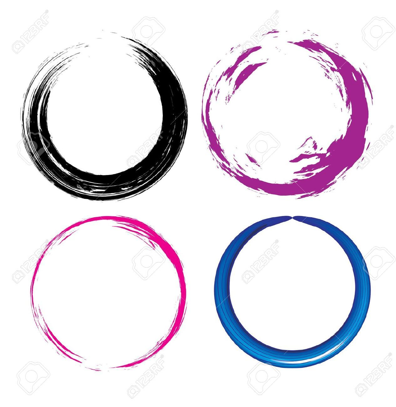 Enso circle drawing buscar con google ensocirculo zen illustration of four different grunge circle with place for your text vector art clipart and stock vectors biocorpaavc Images