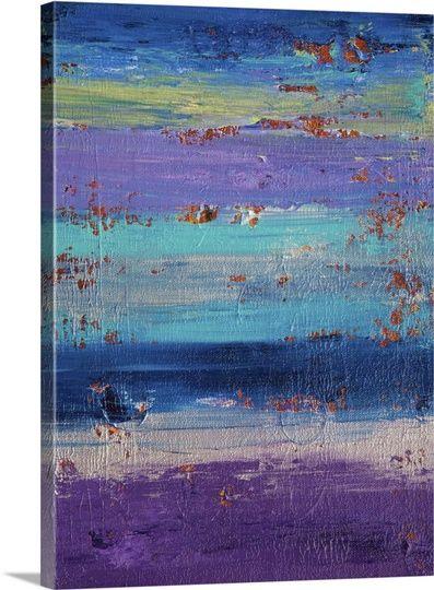 Side Of The Moon Canvas Iv Art Purple Wall Art Canvas Prints