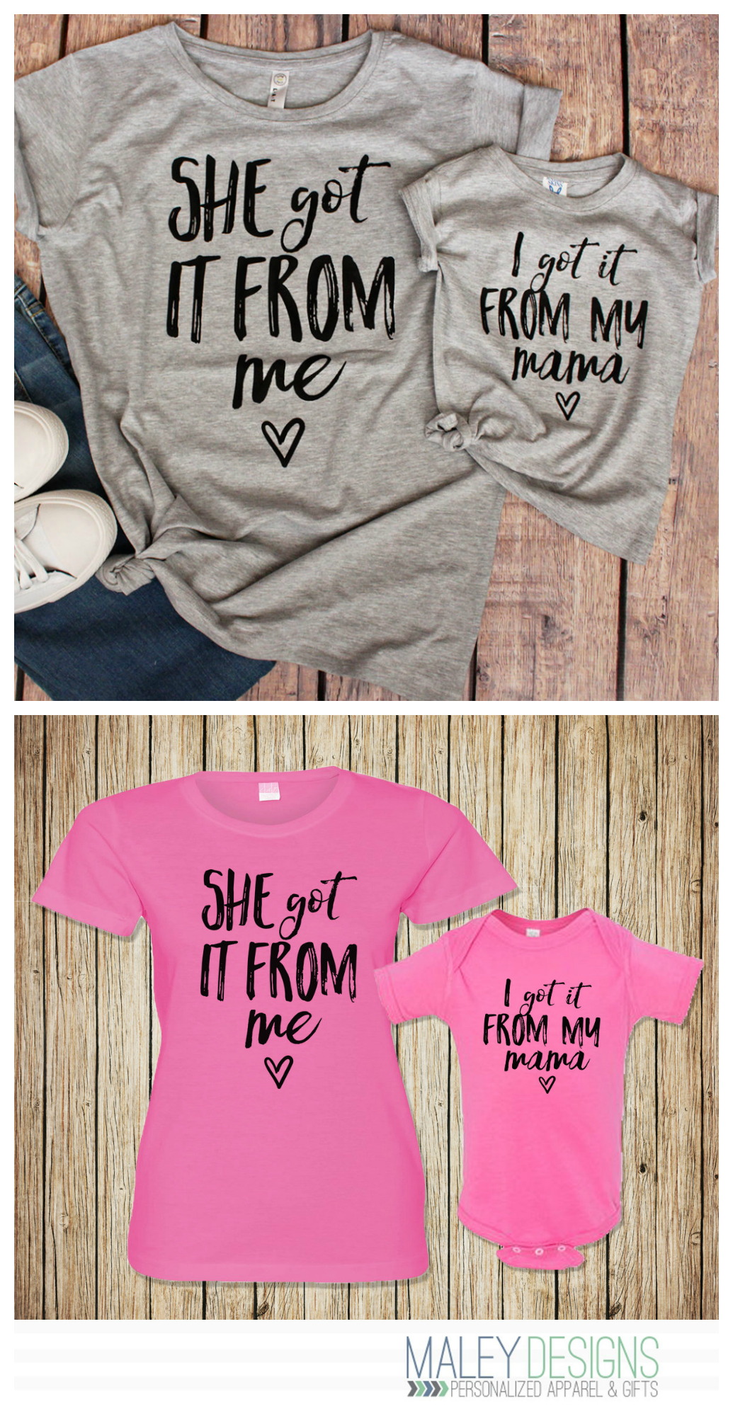 Mom and daughter matching shirts