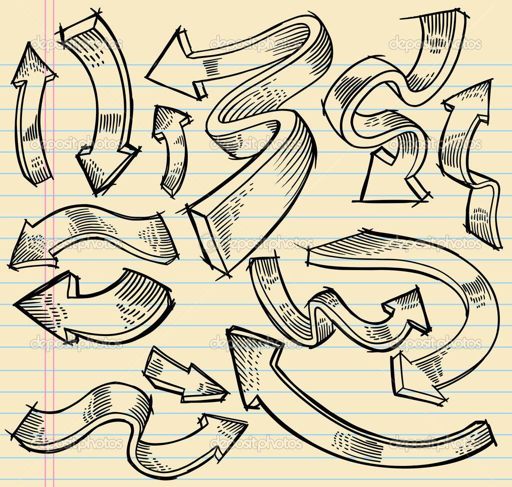 depositphotos_8627825-Notebook-Doodle-Sketch-Arrow-Design-Vector-Set.jpg (1023×974)