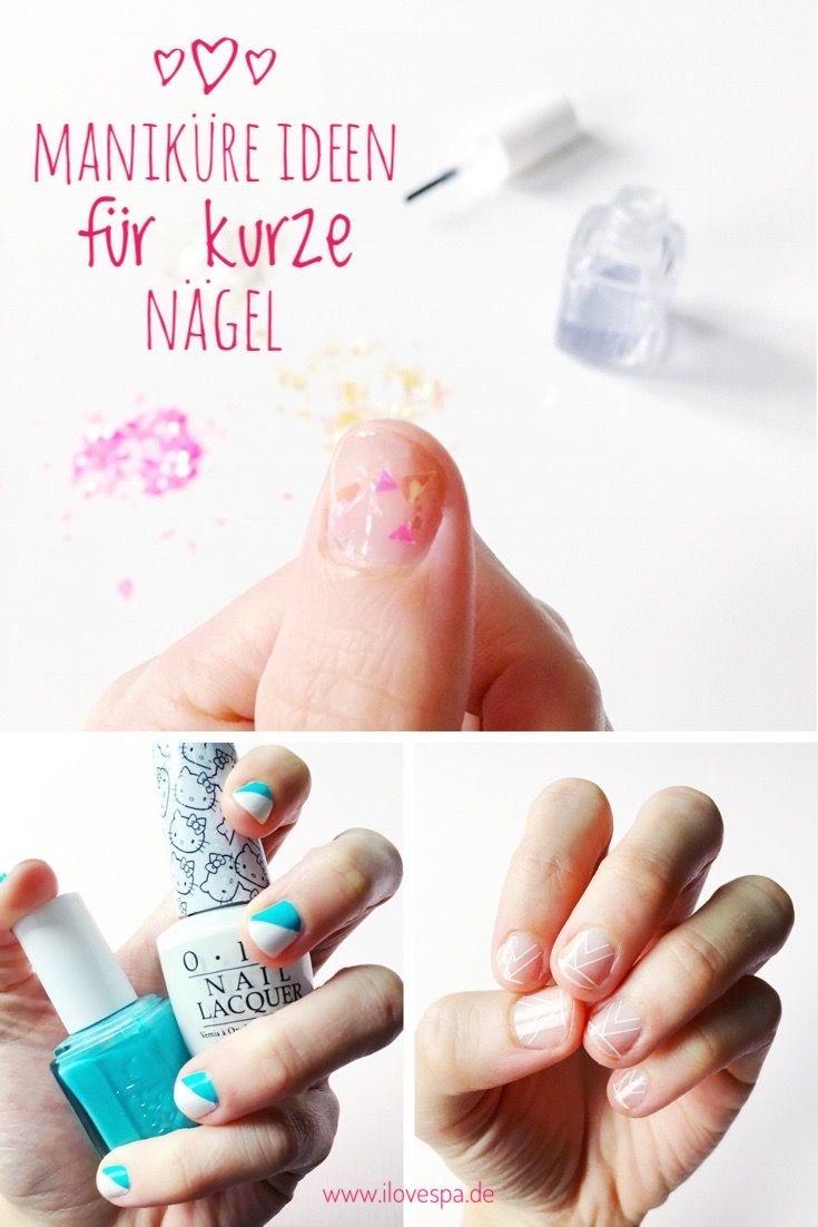 Die schönsten schlichten DIY Maniküre Ideen für kurze Nägel, die ihr ...
