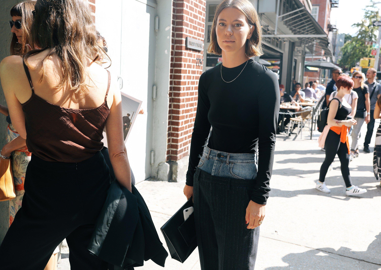 Khloe kardashian flannel shirt  The Best Street Style From New York Fashion Week Spring u  Street