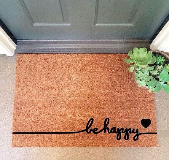 Free Shipping Be Happy Coir Doormat Coir Funny Doormat Etsy Door Mat Coir Doormat Sweet Home