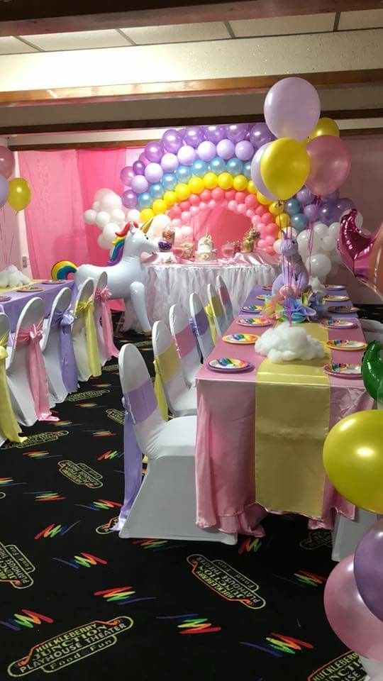 Unicorn Birthday Party Decoration Idea Room Inspiration