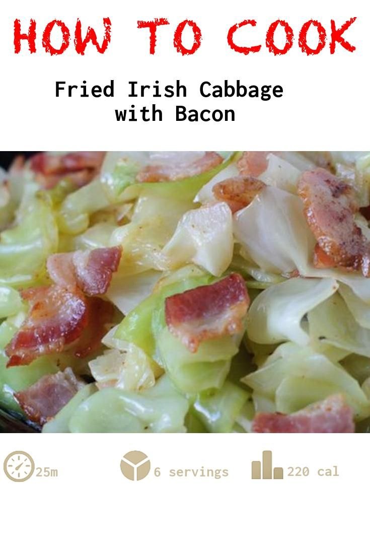 Fried Irish Cabbage with Bacon recipe