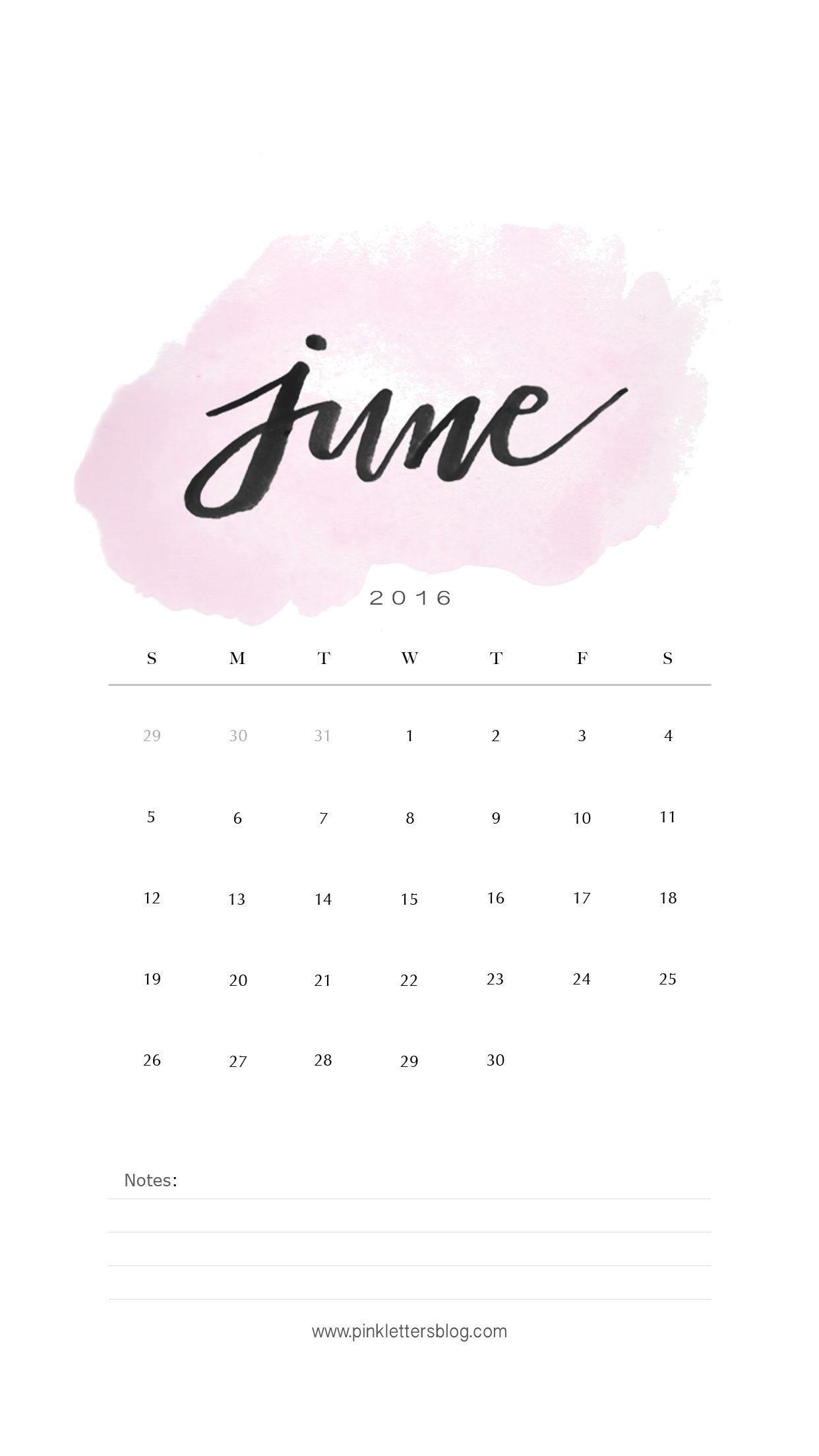 June 2016 Calendar Lockscreen Iphone Lockscreen Planos De