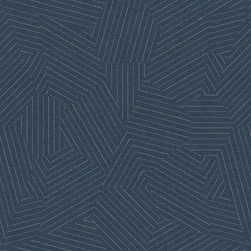 York Wallcoverings Modern Art Navy Stitched Prism Wallpaper Uc3803 | Bellacor