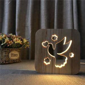 Source Fs T1886w Fancy Lion S Head Design Colorful 3d Lights Decorative Table Lamp On M Alibaba Com Lampes De Table Animaux En Bois Table Bois