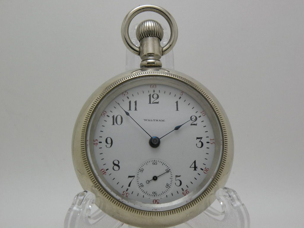 Antique American Waltham Railroad Pocket Watch 15 Jewels Size 18