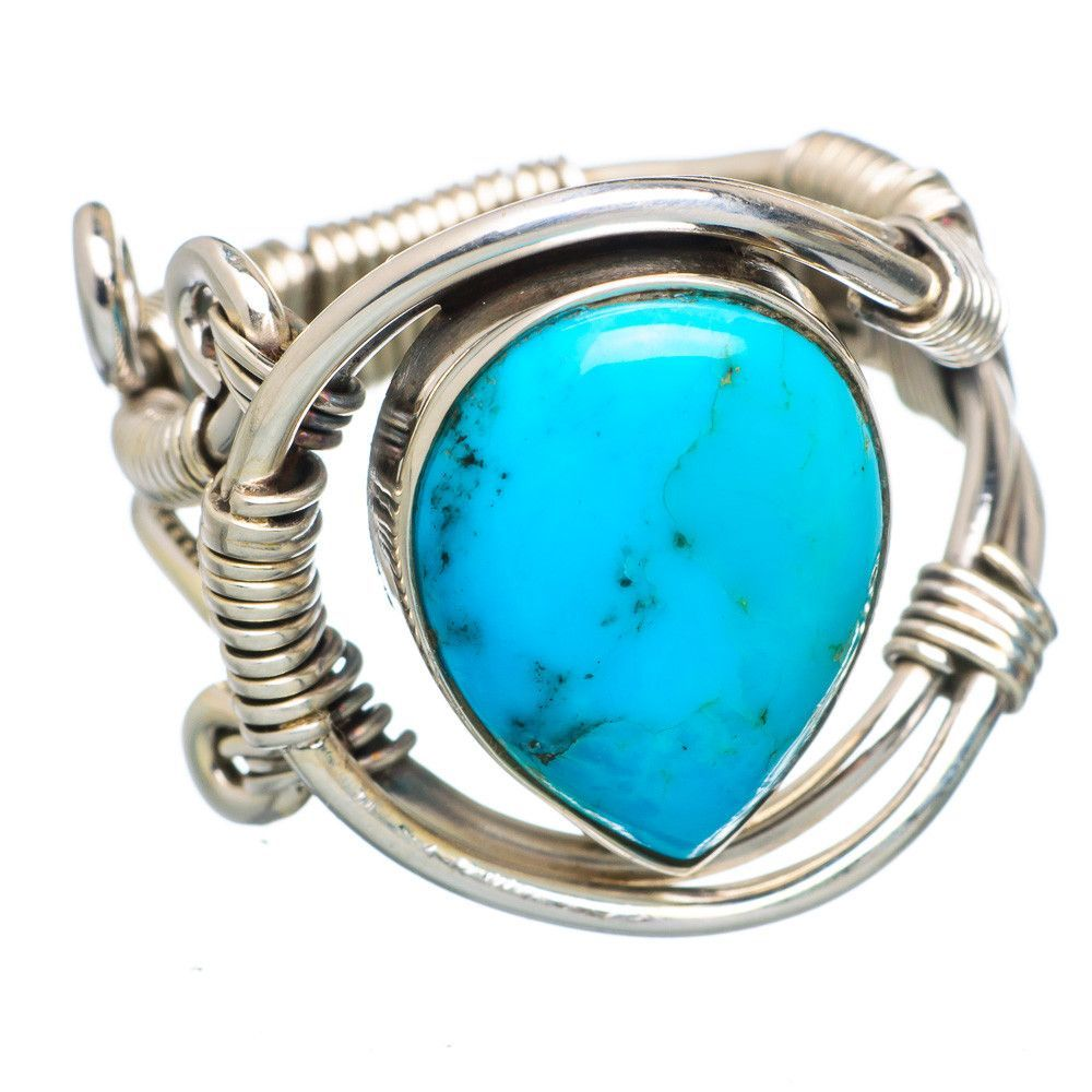 Tibetan Turquoise 925 Sterling Silver Ring Size 9 RING784496
