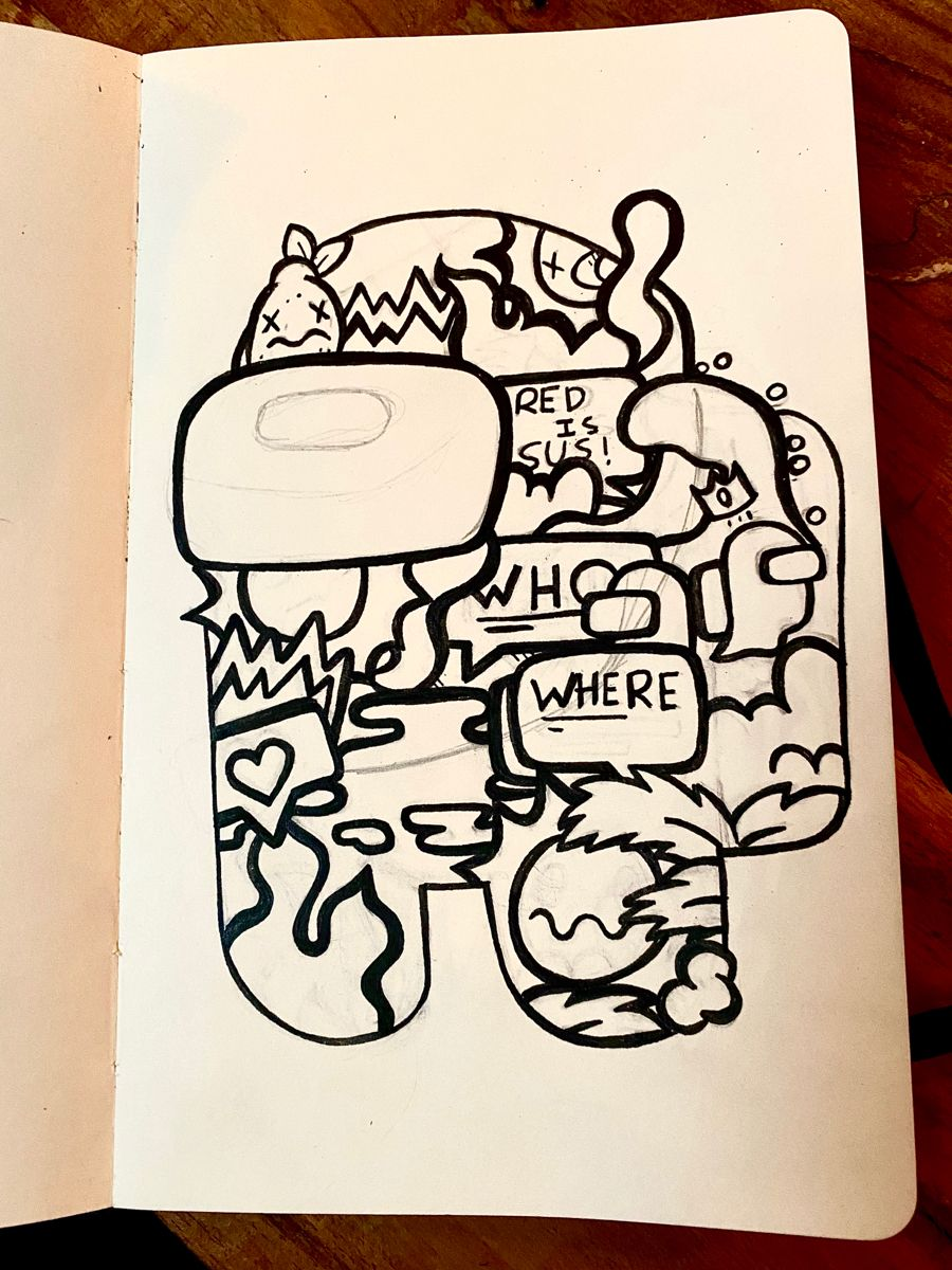 Among Us Doodle Doodle Art Drawing Sharpie Art Nature Art Drawings