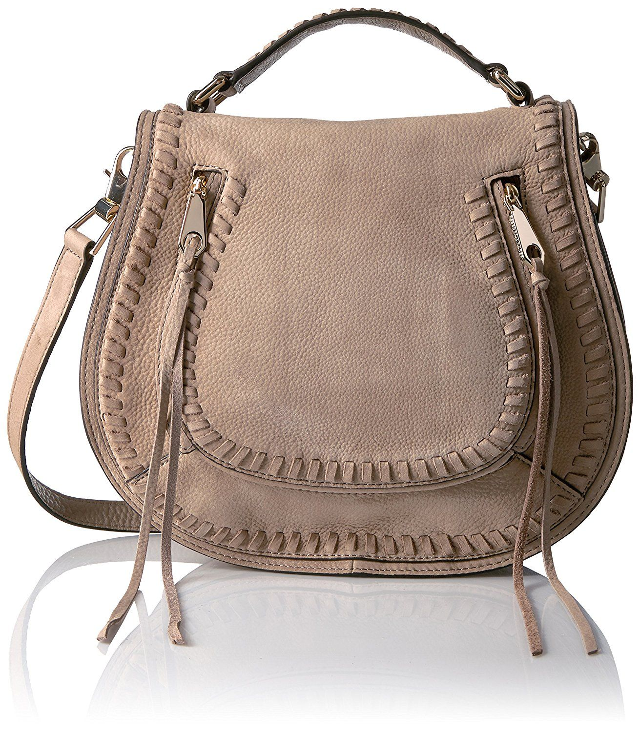 Rebecca Minkoff Vanity Saddle Bag Mushroom Clothing