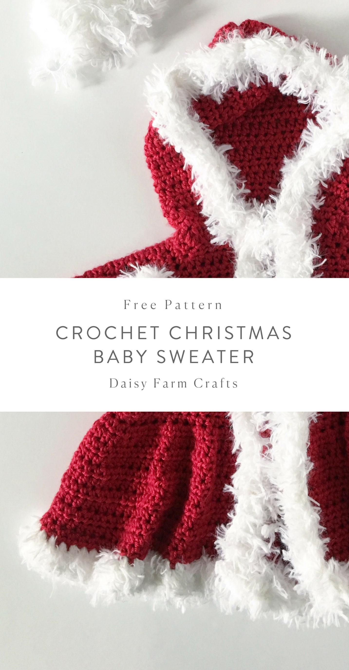 Free Pattern - Crochet Christmas Baby Sweater #crochet | Crochet ...