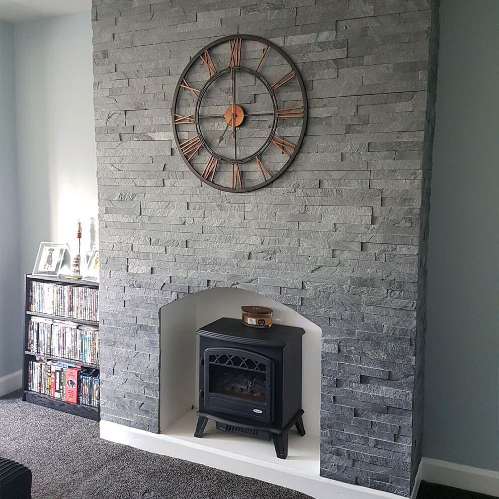 Silver Grey Split Face Mosaic Tiles Large In 2020 Tiled
