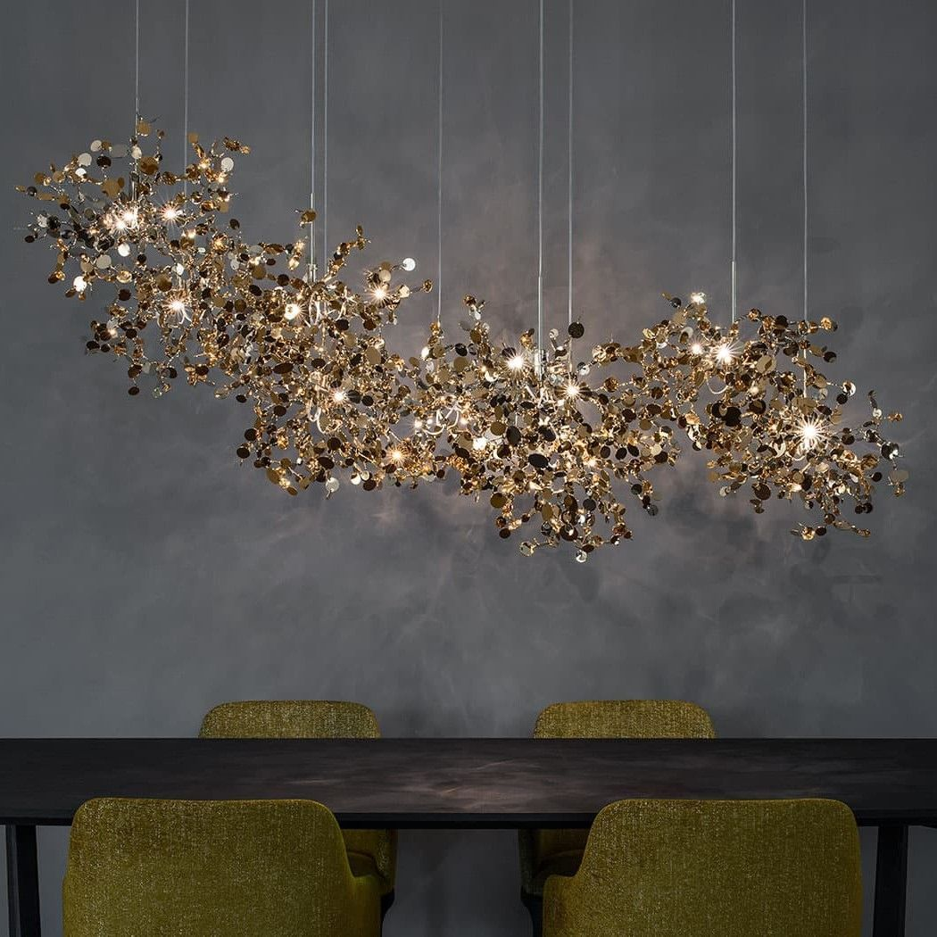 The Argent N92s Chandelier By Terzani Consists Of Diffe