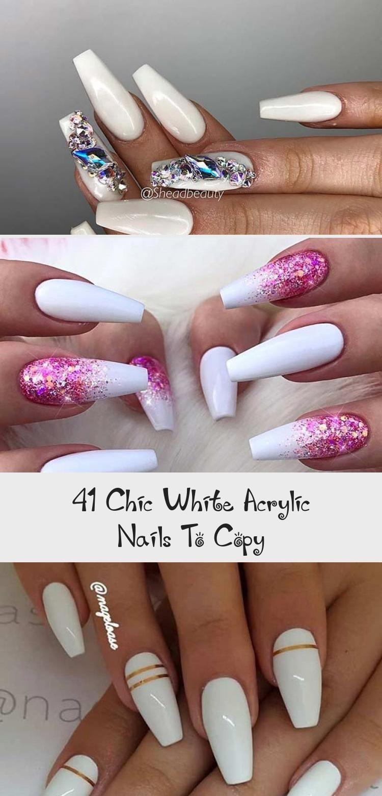 Photo of 41 Chic White Acrylic Nails To Copy – Nail Art