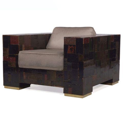 Dark Waste Armchair In Scrapwood by Piet Hein Eek | ROOMSERVICE DESIGN