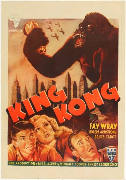 King Kong 1952 Re Release Poster From The Belgian Congo King Kong Movie Posters Vintage Movie Posters