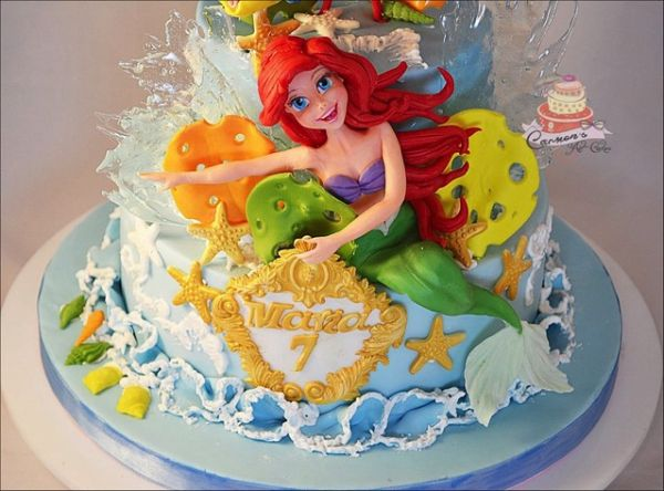Wonderful Little Mermaid 7th Birthday Cake Birthday cakes Cake