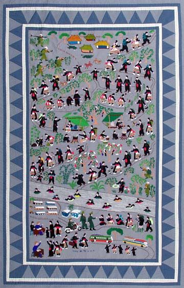 hmong story cloth - Google Search | Hmong | Pinterest | Searching : hmong story quilt - Adamdwight.com