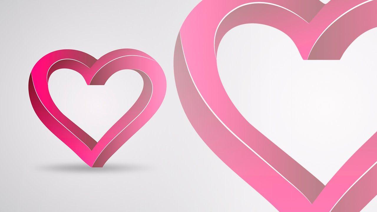 Illustrator Tutorial 3d Impossible Heart Logo Design Heart